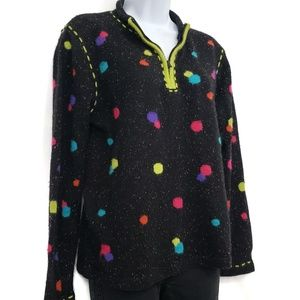 Coldwater Creek Colorful Pullover Zip Sweater Sz S